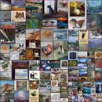 Collage of art from the 2015 Creemore arts festival.