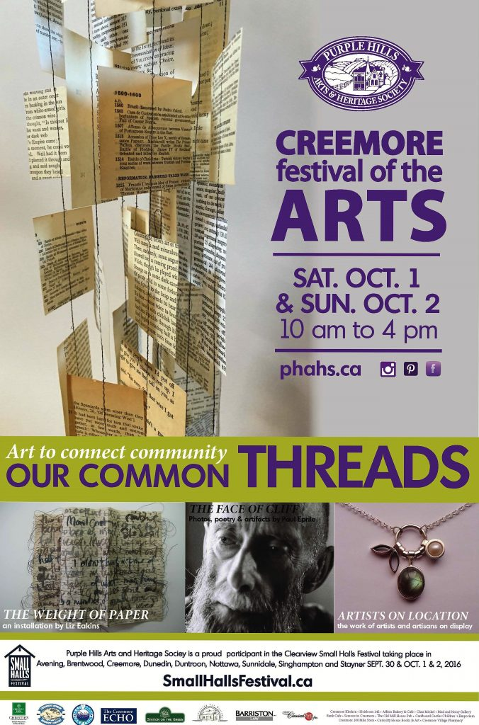 Poster for Creemore Festival of the Arts 2016